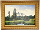 Design Toscano View at Rouelles Le Havre, 1858: Canvas Replica Painting: Large