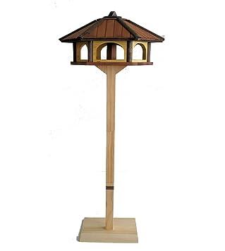 Vogelhaus Vogelvilla Futterhaus Vogelhäuschen mit Ständer Vogelhausständer L
