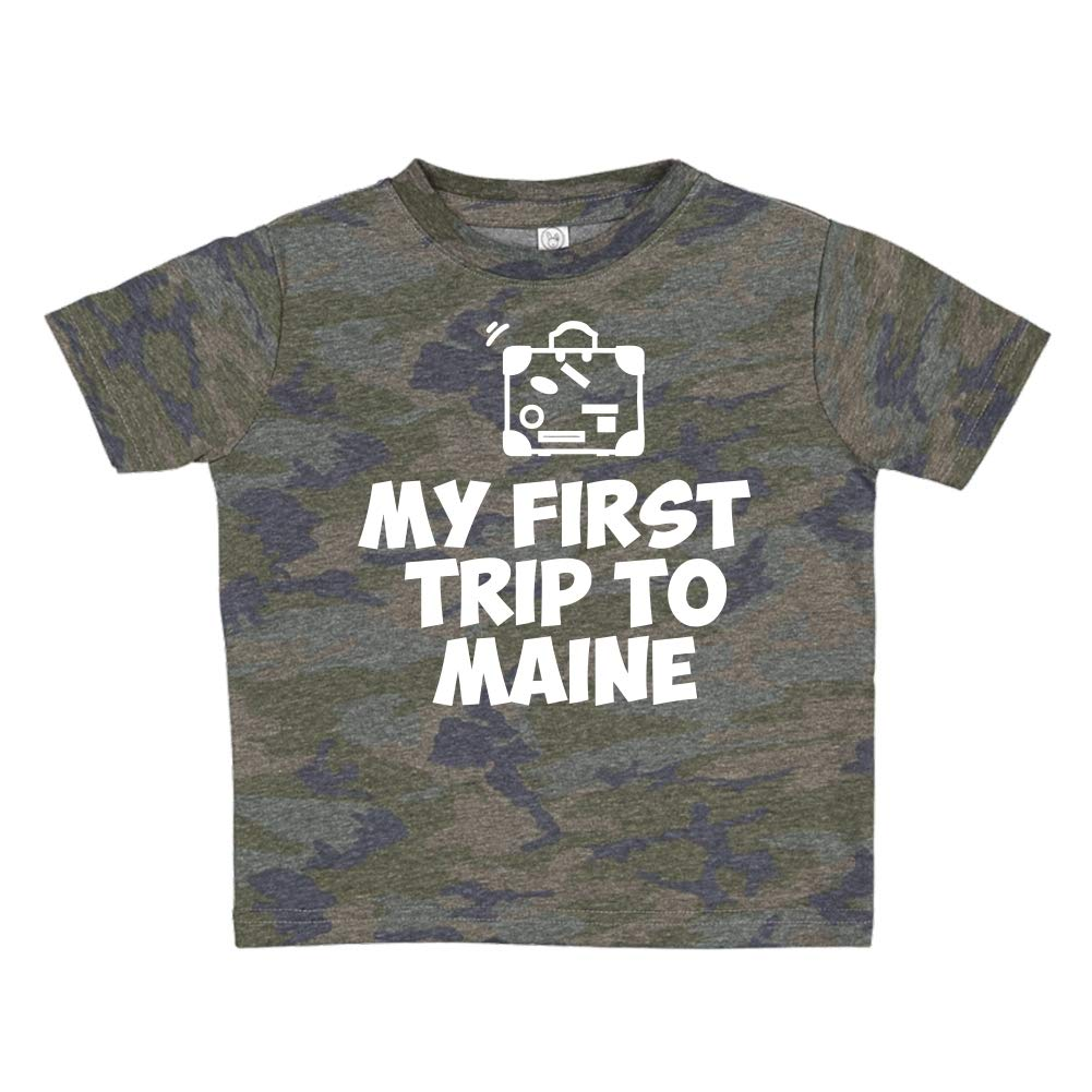 Toddler//Kids Short Sleeve T-Shirt My First Trip to Maine