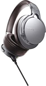 Sony MDR1ADAC/S Premium Hi-Res DAC/Amplifier-Integrated Headphones, Silver