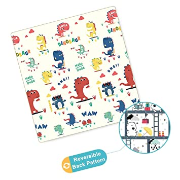 Amazon com : Arkmiido Baby Play Mat, One-Piece Reversible