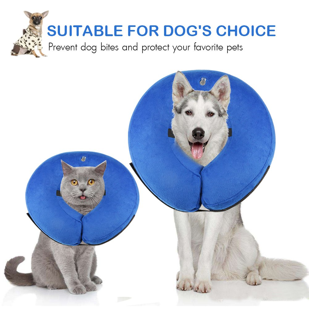 ONSON Protective Inflatable Dogs Collar, Soft Pet Recovery E-Collar for Small Medium Large Dogs and Cats, Designed to Prevent Pets from Touching Stitches (Small) by ONSON (Image #3)