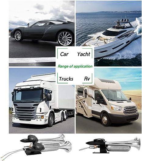 2 pezzi tromba daria per camion clacson per auto 300DB 2020 tromba per auto e treno di nuova generazione doppio bip elettrico