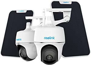 Reolink Argus PT with Solar Panel Bundle - Pan Tilt Wireless Home Security Camera System, Solar Battery Powered Waterproof