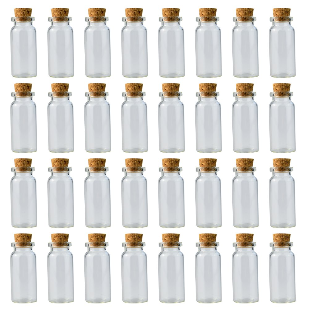 f2e917a9814f Wobe 24 Pcs 20ml Cork Jar Glass Bottles, DIY Decoration Mini Glass ...