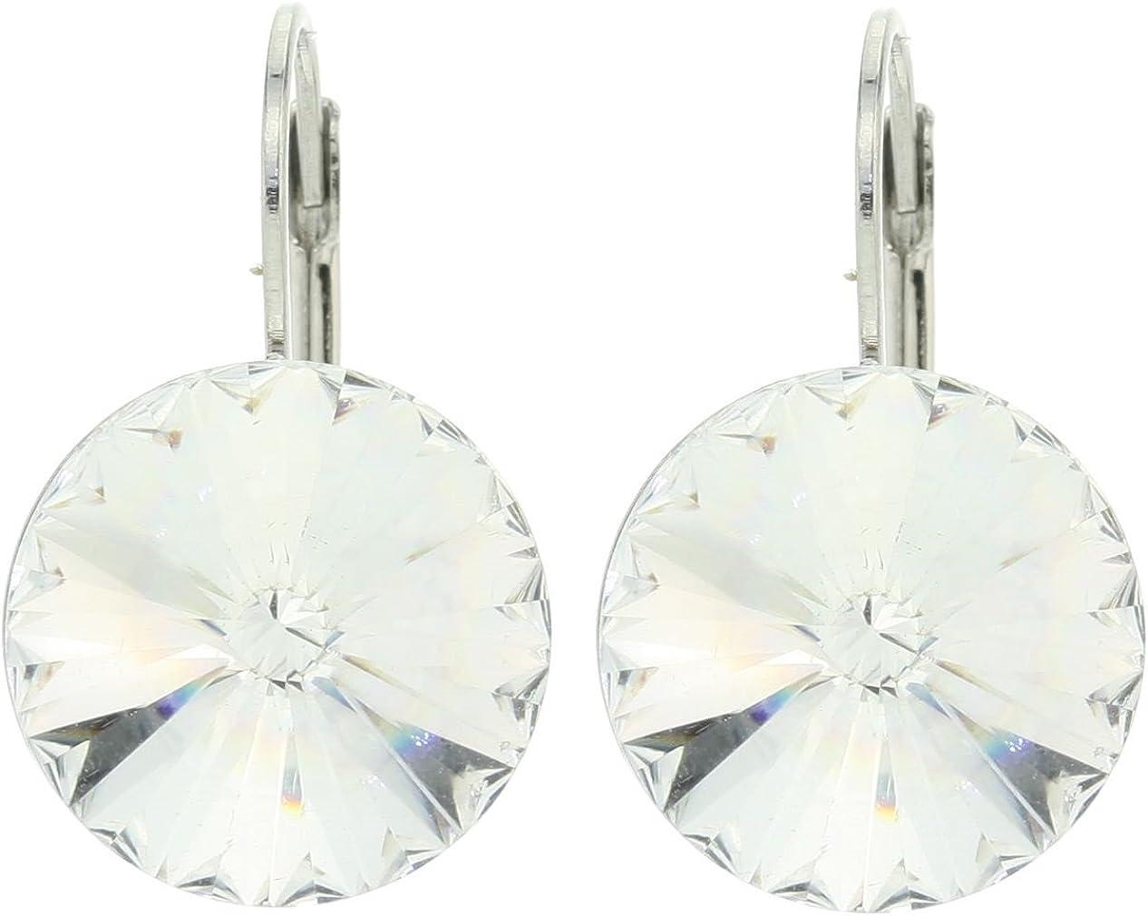 Kleine Bonito Pendientes con Swarovski Piedra–Pendientes Cristal Piedra–Bisutería