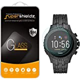 (3 Pack) Supershieldz for Fossil Gen 5 Smartwatch Garrett HR Tempered Glass Screen Protector, Anti Scratch, Bubble Free