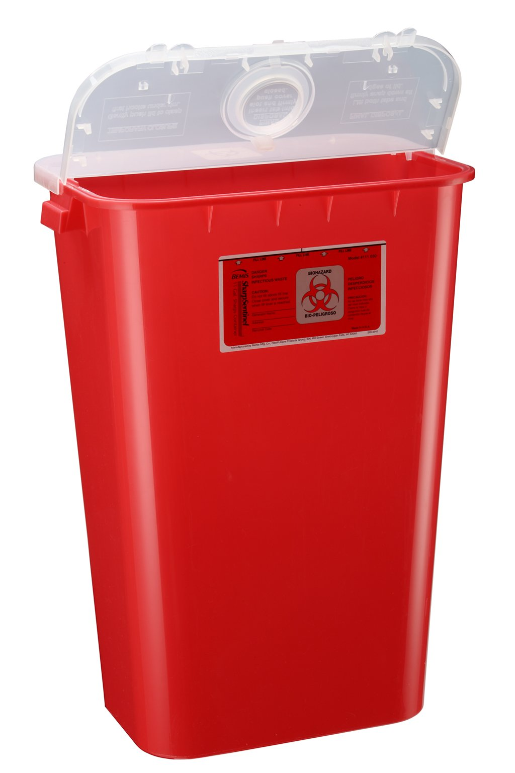 Bemis Healthcare 111030-6 11 gal Sharps Container, Red (Pack of 6)