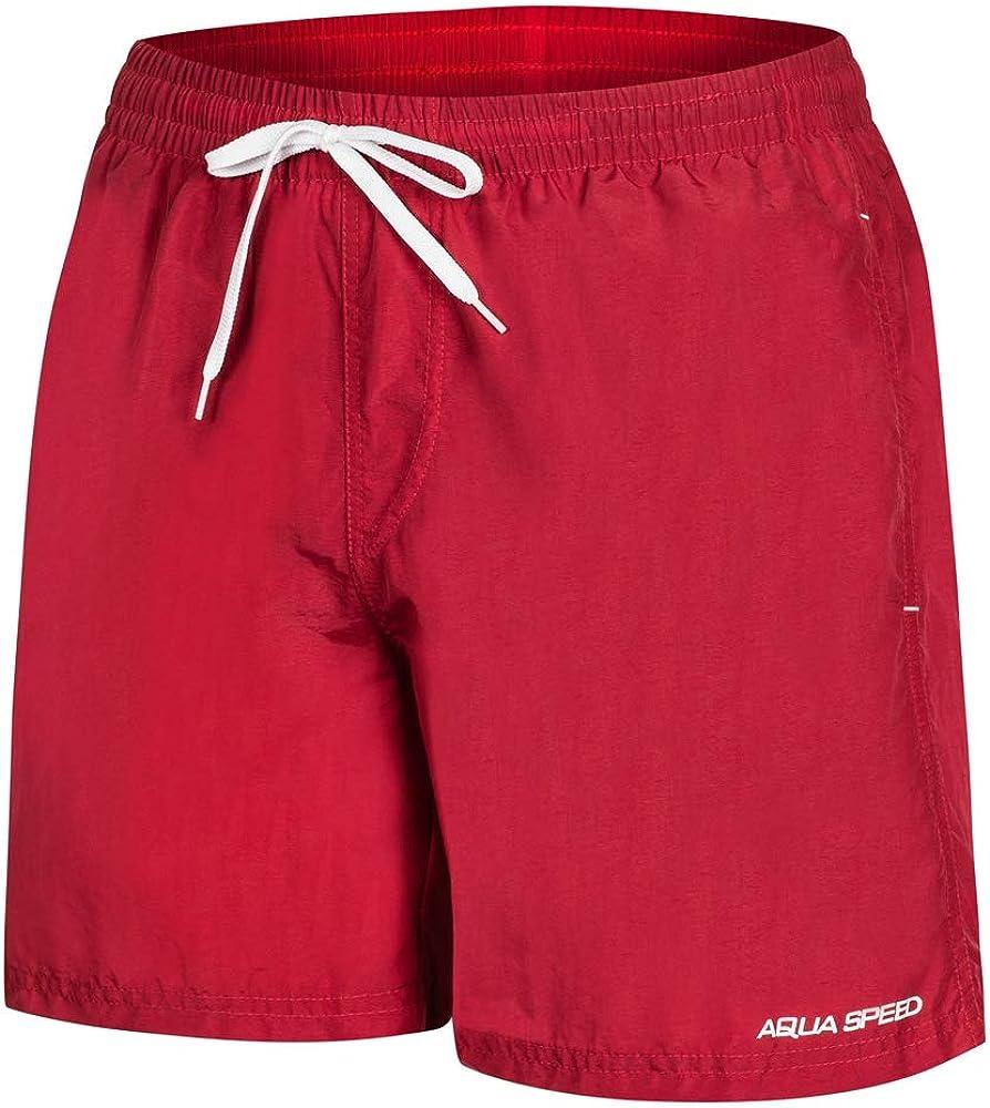 Aqua-Speed 5908217666864 Remy Swim - Bañador para Hombre, Talla M, Color Rojo