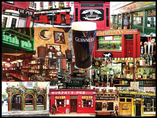 White Mountain Puzzles Irish Pubs - 550 Piece Jigsaw Puzzle