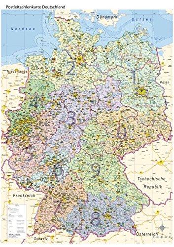 Plz Karte Deutschland Kostenlos Download.Postleitzahlenkarte Deutschland Mit Bundesländern Din A0 Maßstab