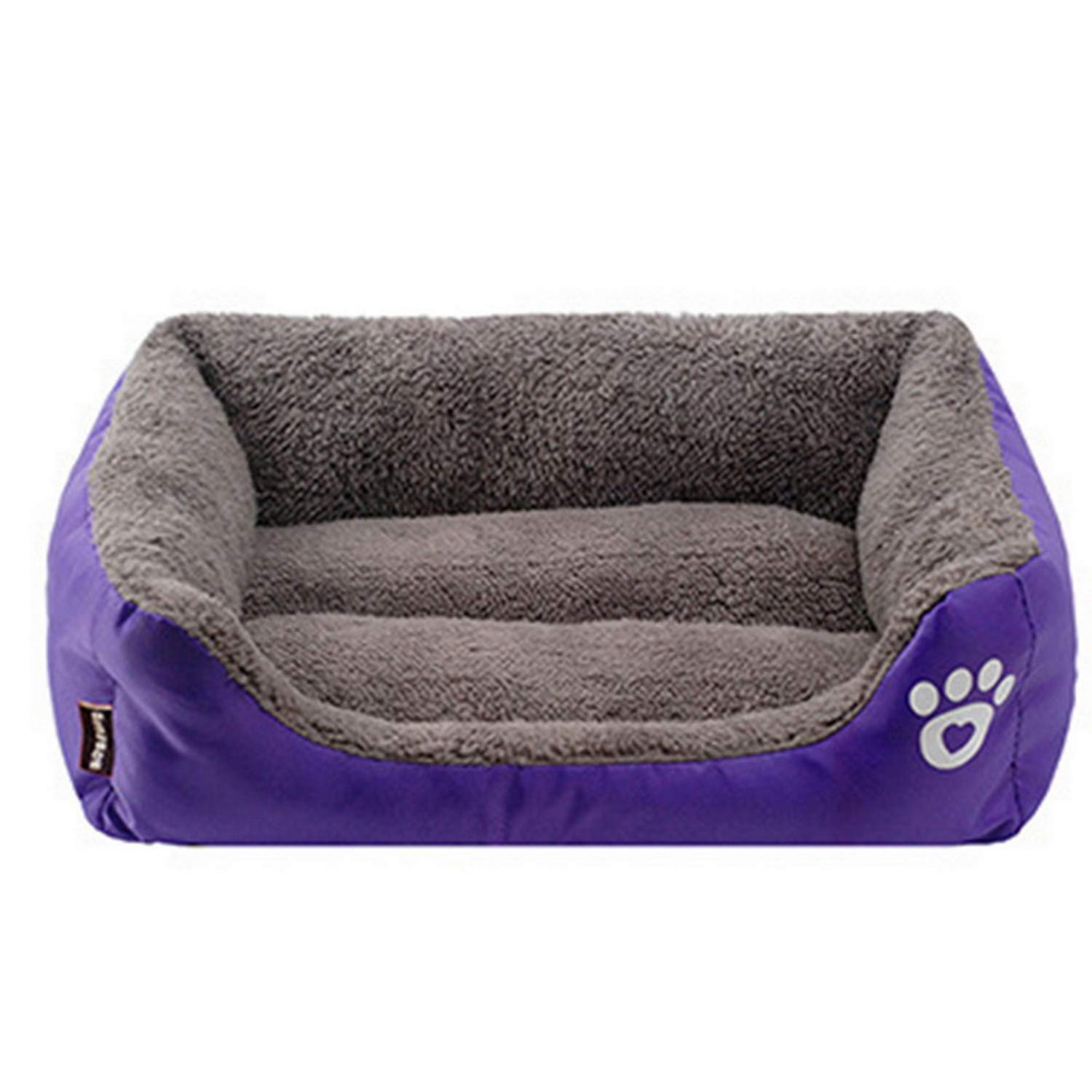 Purple 110cmx85cmx19cm purple 110cmx85cmx19cm PETFDH 6 Sizes Pet Dog Bed Warming Dog House Soft Material Nest Dog Baskets Fall and Winter Warm Kennel for Cat Puppy Quality Purple 110cmx85cmx19cm