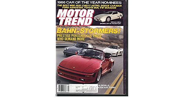 MOTOR TREND Mazda 626 GT Turbo Toyota Cressida Nissan Maxima road tests 1 1986 at Amazons Entertainment Collectibles Store