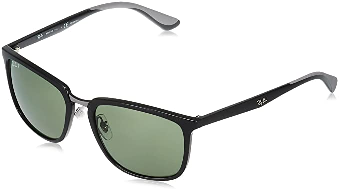 1d938fab436 Amazon.com  Ray-Ban Men s 0rb4303 Polarized Rectangular Sunglasses ...