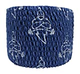 Liftgenie Tearable Elastic Adhesive Weightlifting Tape | Protects Thumbs When Lifting Weights & Prevents Knurling | Stretchy Adhesive Athletic Hook Grip Tape for Weightlifters (box of 24, Blue)