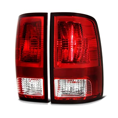 VIPMotoZ 2009-2017 Dodge RAM 1500 2500 3500 Tail Lights - [Factory Style] - Rosso Red Housing, Driver and Passenger Side