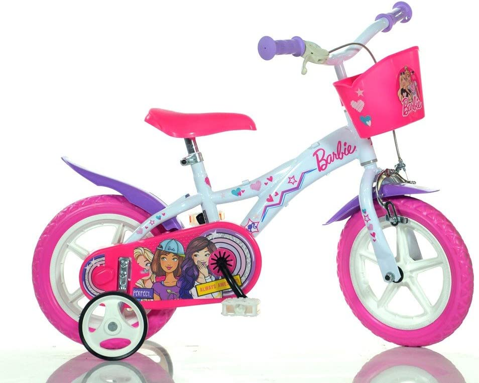 Bicicleta para niña DINO BIKES 612 GL-BA talla 12 BARBIE edad de 3 ...