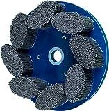 PFERD 83953 M-Brad Standard Density Composite Disc Brush, Silicon Carbide, 8'' Diameter, 0.040 Round Filament, 1800 rpm, 80 Grit