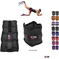 Xn8 Sports Ankle Weights Adjustable Resistant 0.5kg 0.75kg 1kg 1.5kg 2kg 2.5 kg 3kg 4kg 5kg Leg Wrist Strap Running Cross Fitness Gym Training Exercise