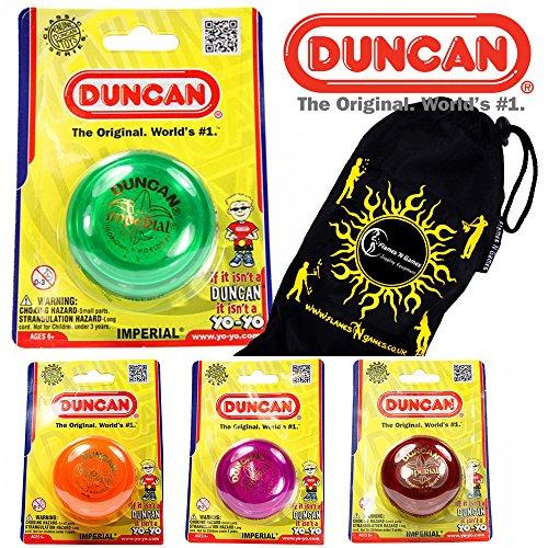 Duncan IMPERIAL Classic YoYo Ideal for KIDS and Beginners + Travel Bag! The Original Yo-Yo! (Orange) ()
