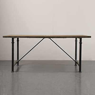 """Madison Park Cirque Dining Table with Metal Legs, 72"""" x 36"""" x 30.25"""", Grey"""
