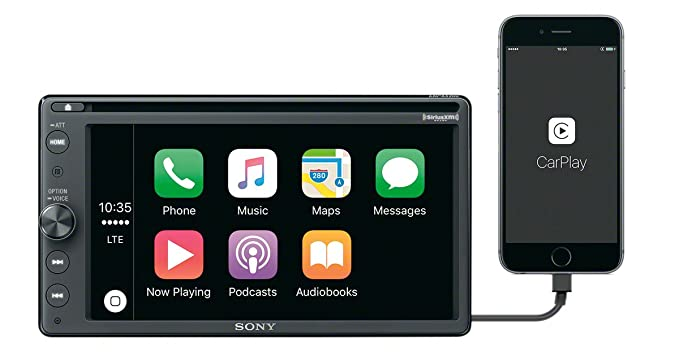 Sony XAV-AX200 DVD Receiver w/Bluetooth MP3 Satellite Radio, Apple Car Play  and Android Auto (Disco by Manufacturer)