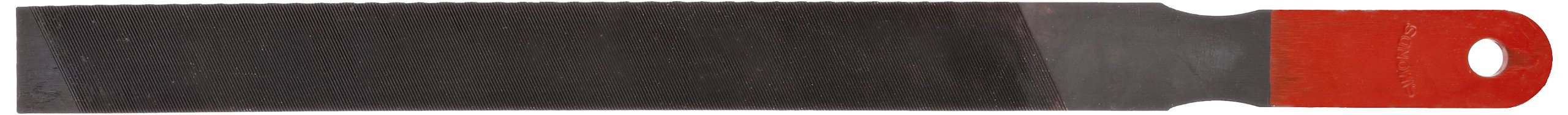 Simonds Mill Paddle Hand File with Handle, American Pattern, Single Cut, Rectangular, Black Oxide Coating, Coarse, 10'' Length, 31/32'' Width, 3/16'' Thickness