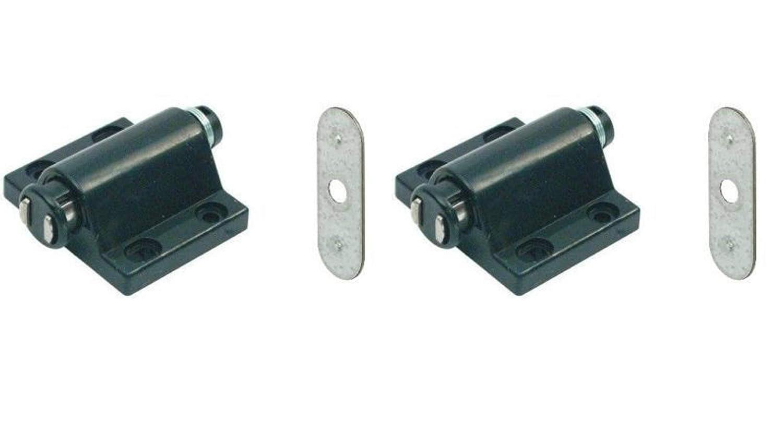Magnetico a pressione Push to Open tocco fermo cucina armadio porte cattura + piastra x2 Gas N Pow3r