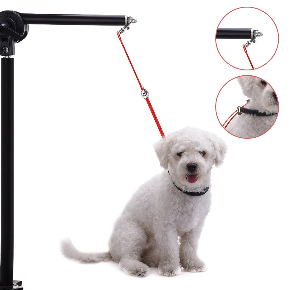 jannyshop Pet Dog Grooming leash Unit Wire Rope Cable Adjustable Grooming Table Arm Controller Leads for Small Medium Dogs Cats