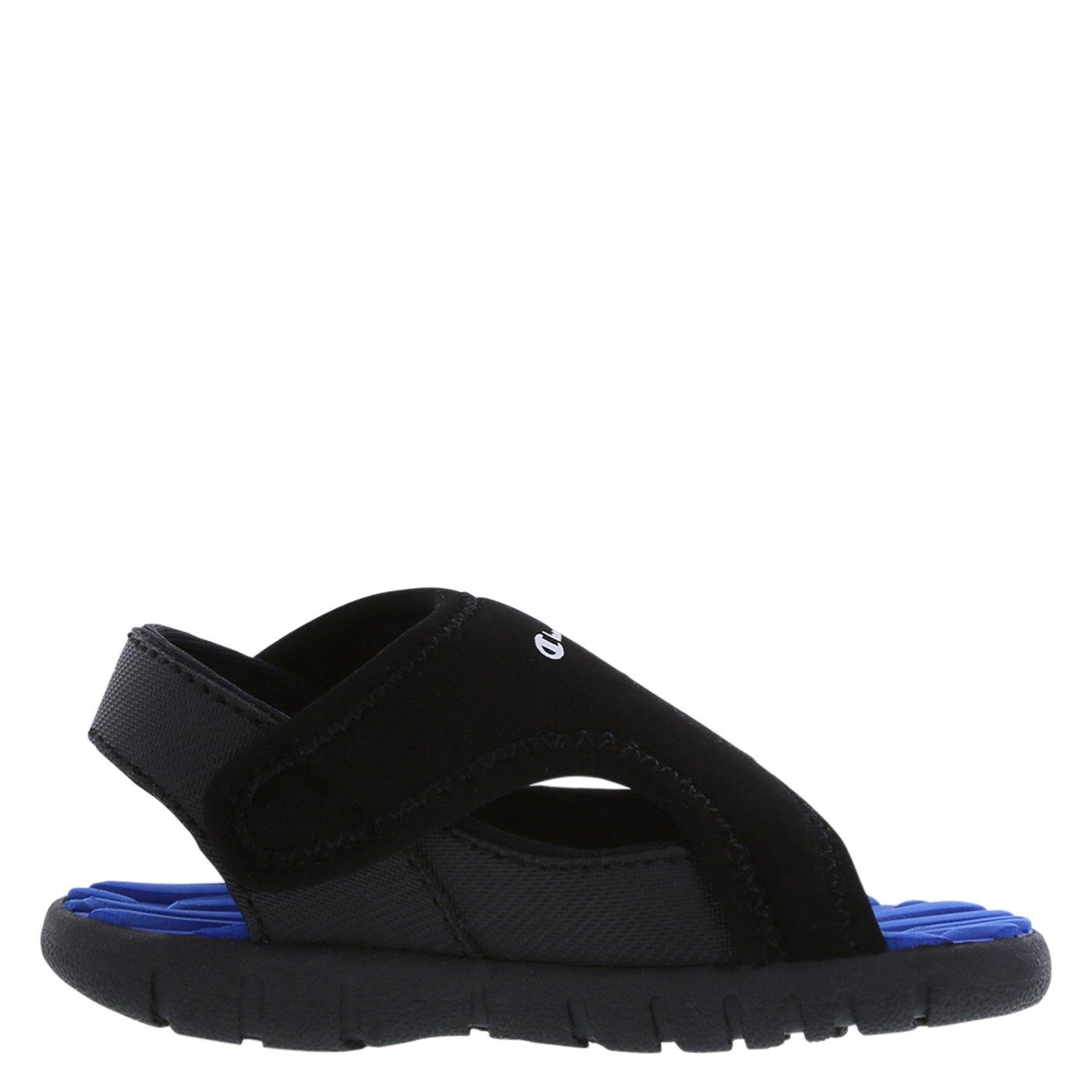 befcb18b42f Amazon.com  Champion Boys Black Blue Boys  Infant Splash Sandal 2 Wide   Shoes