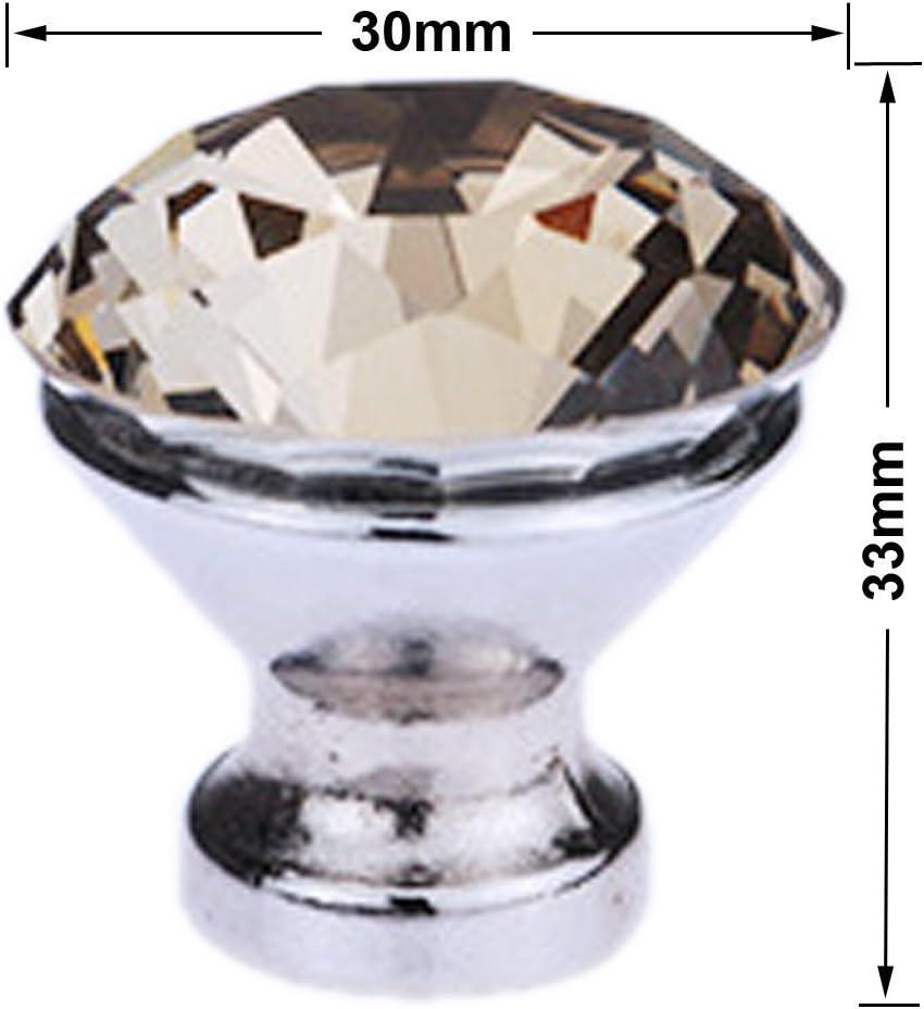 Schrank T/ür grau und violett braun K/üche etc./ /Silber /& #- Schrank T/ür tencro 8/30/mm Diamant klar geformte Crystal Kn/öpfe mit Schraube f/ür Schublade T/ür