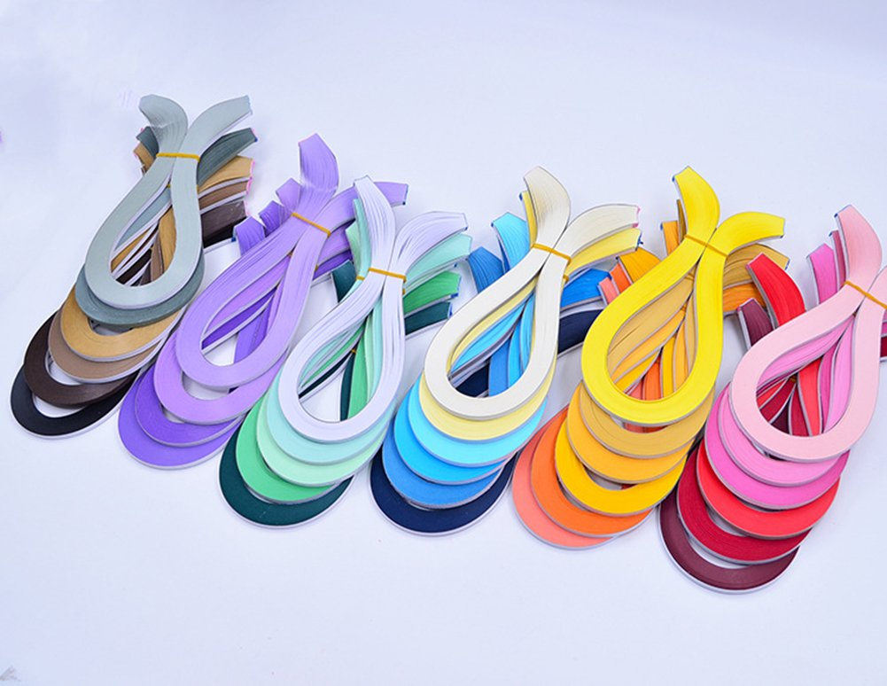 Red Series Kanggest 720Psc Quilling Paper Strips Origami Paper for DIY Handcrafts and Paper Art