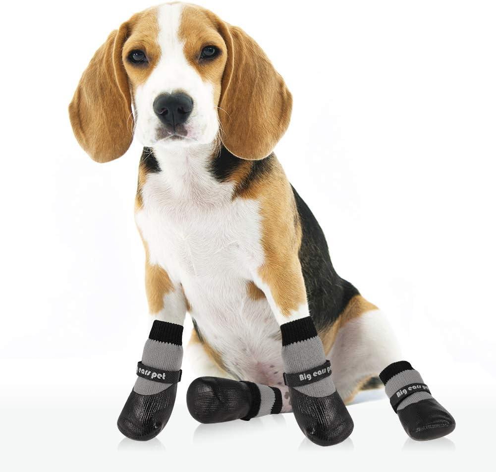 4 unidades, antideslizantes Botas protectoras para perro para correr al aire libre con correas de sujeci/ón reflectantes y suela antideslizante resistente AIM Cloudbed