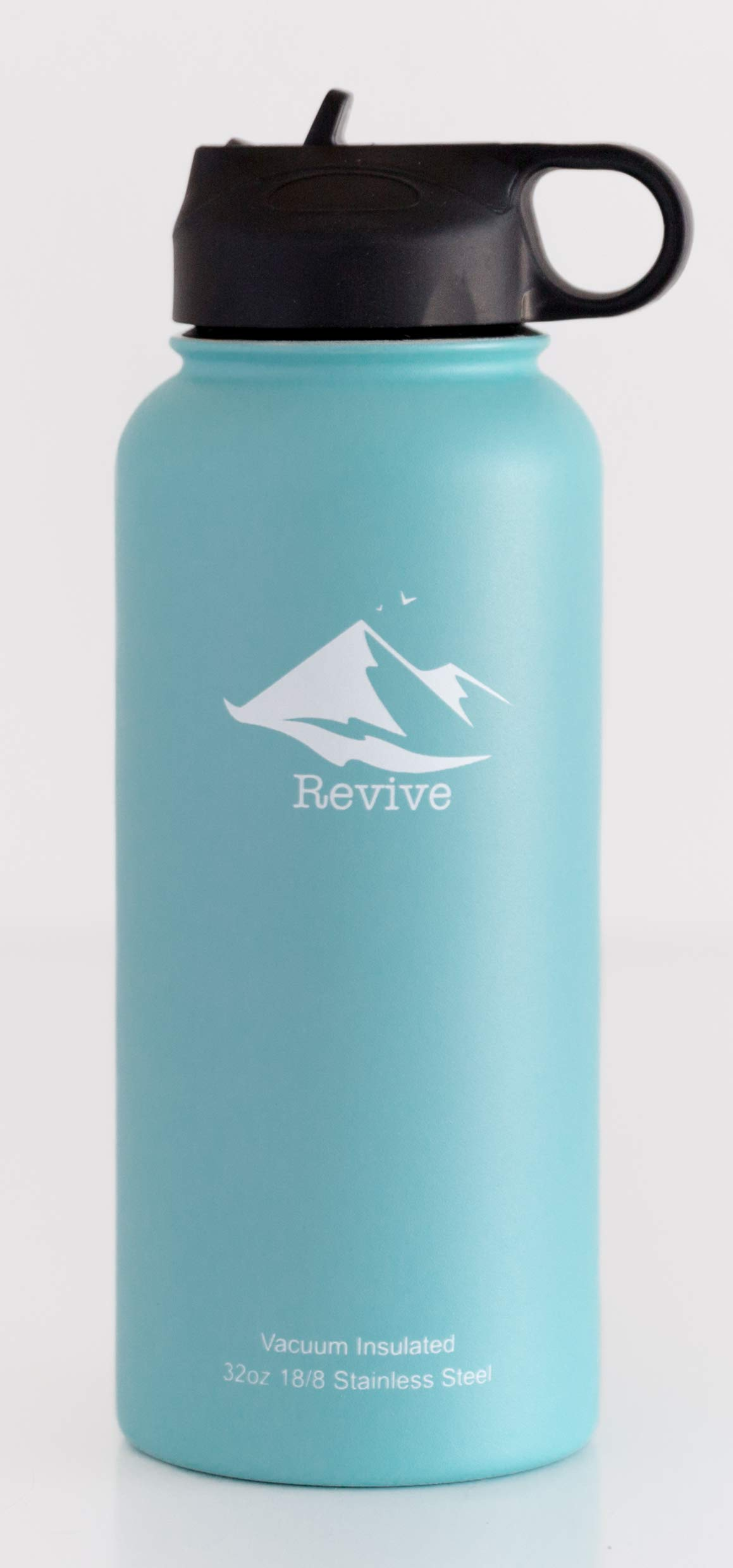 Revive 32oz Stainless Steel Water Bottle Eco Friendly BPA Free Double Wall Vacuum Insulated 18/8 Food Grade Stainless Steel (Teal)