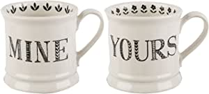 CreativeTops Mine and Yours Set of 2 Ceramic Mugs, 280 ml (10 fl oz)