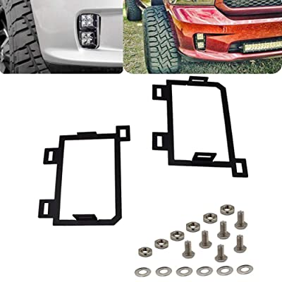XJMOTO for 2013-2020 Dodge Ram 1500 Front Hidden Bumper Replacement LED Fog Light Mounting Brackets: Automotive