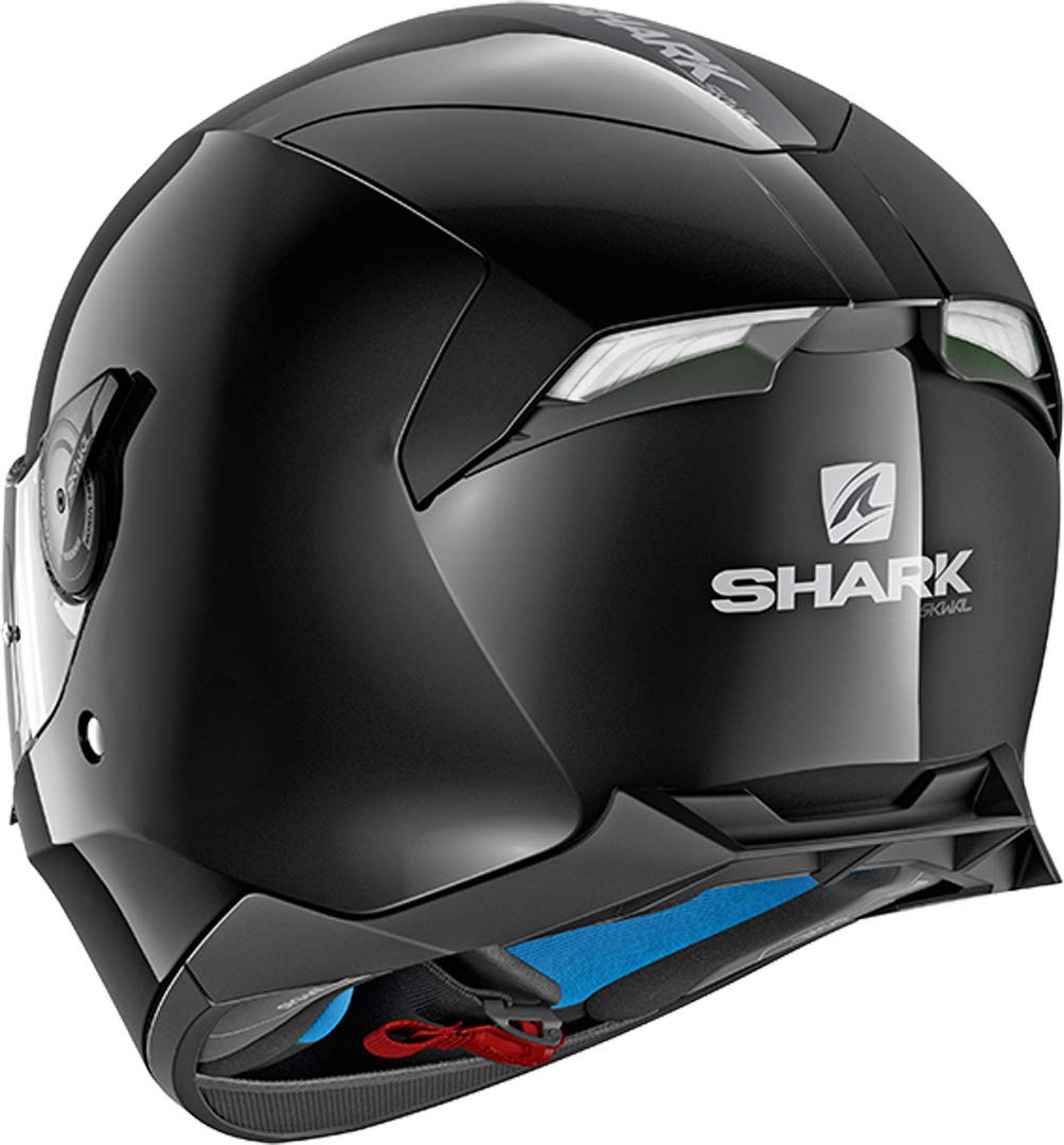 Noir Shark Casque moto SKWAL 2 DUAL BLACK WHT LED BLK S