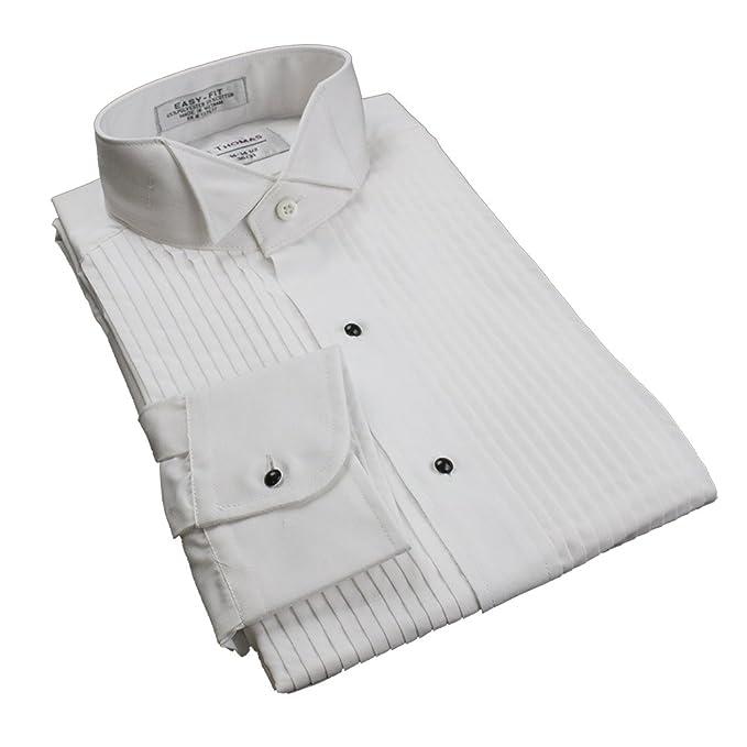 788bd74ebd4 Kyle Thomas Women s 1 4 quot  Pleat Wing Collar Tuxedo Shirt 26 White