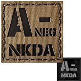 ir blood type - Coyote Brown Infrared IR ANEG NKDA A- Blood Type 2x2 Tan Arid Laser Tactical Morale Touch Fastener Patch