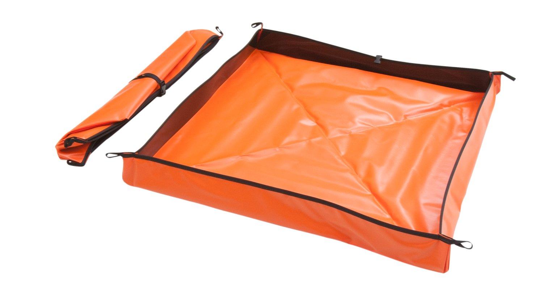 AIRE INDUSTRIAL 909-020204O Go-Go Berm Portable Containment, 10 gal Spill Capacity, 24'' Length x 24'' Width x 4'' Height, Orange