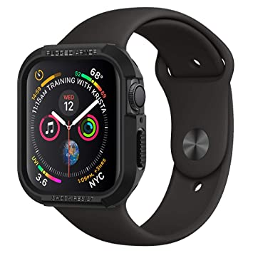 b1e9db31d8e Funda Apple Watch 4 44mm, [Rugged Armor] Antigolpes [Negro] Resistente para  protejer contra Golpes y arañazos para Apple Watch Series 4 44mm:  Amazon.es: ...