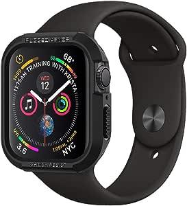SPIGEN [Rugged Armor] Apple Watch SE / 6/5 / 4 Case with Shock Resistance Compatible with Apple Watch SE / 6/5 / 4 (44mm) - Black