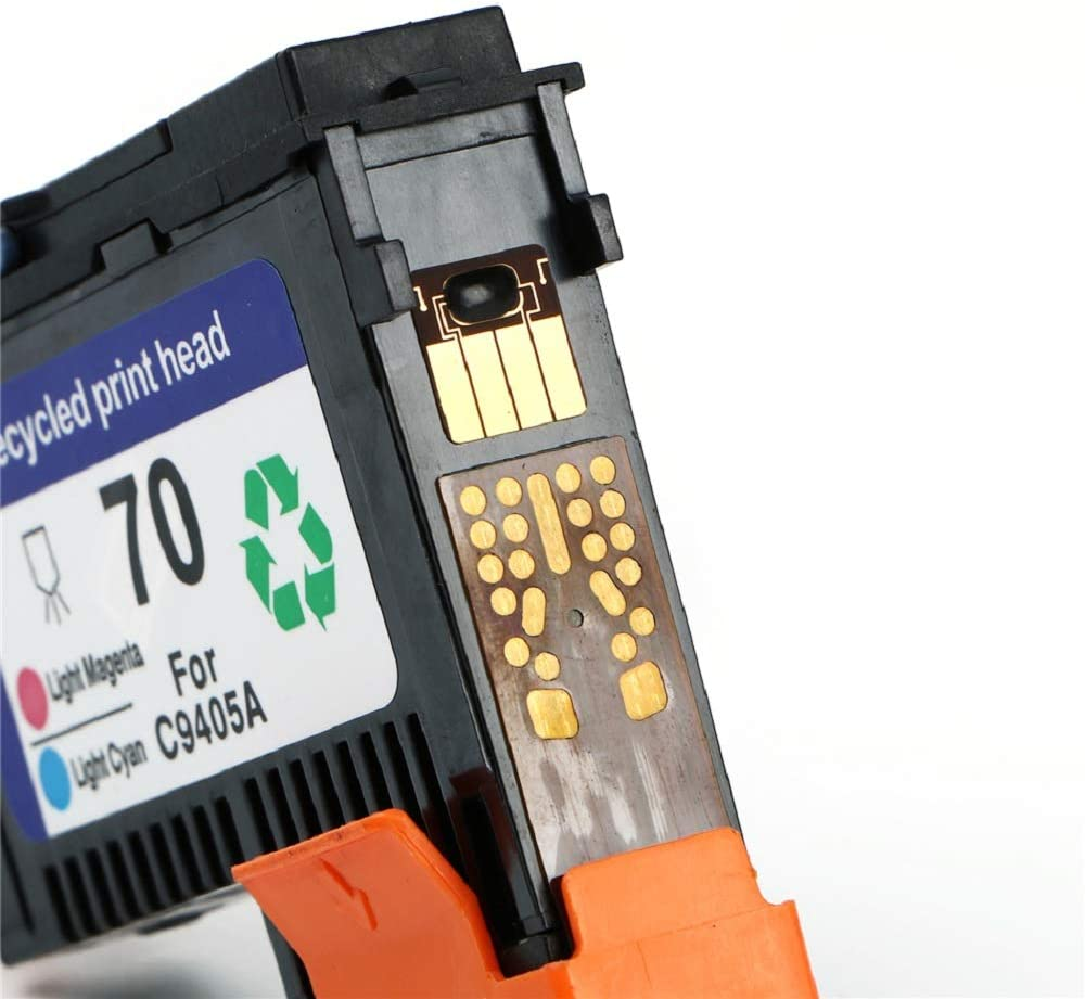 Tuobo Remanufactured HP70 Print Head for HP 70 C9404A C9405A C9406A C9407A Compatible for HP Designjet Z2100 Z5200 Z3200 Z3100 Printer HP70 Printhead