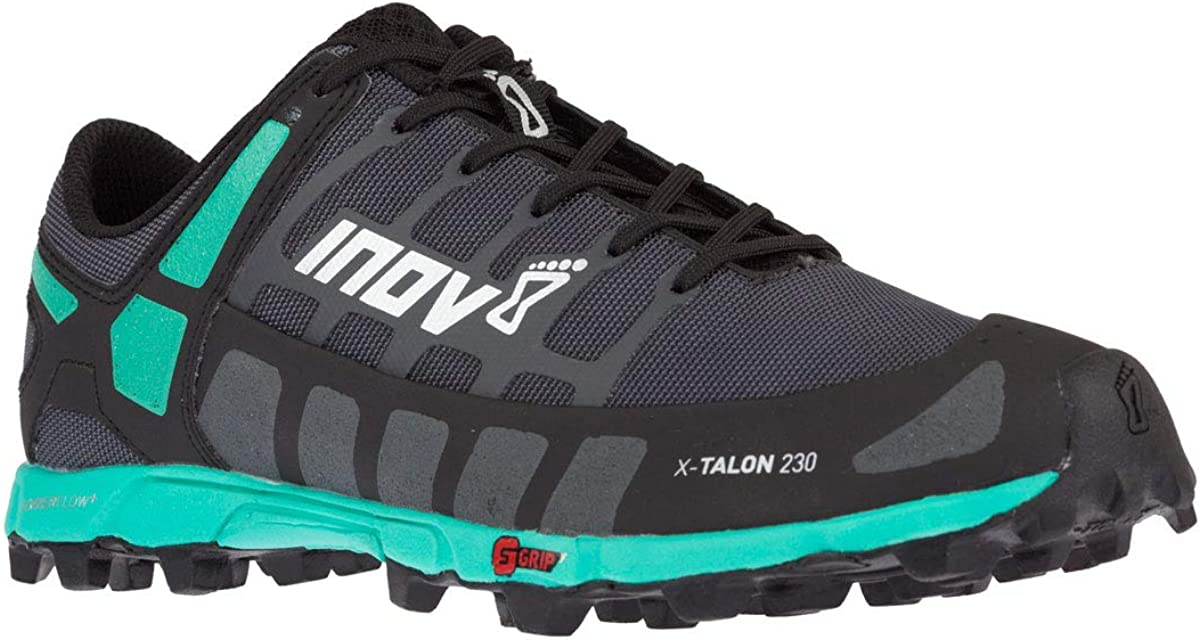 INOV-8 Womens X-Talon 230 – Lightweight OCR Trail Running Shoes – for Spartan, Obstacle Races and Mud Run – Grey Teal 10 W US