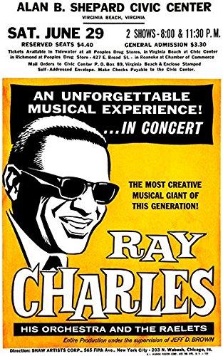 Ray Charles - Virginia Beach VA - 1963 - Concert - Images Va Beach