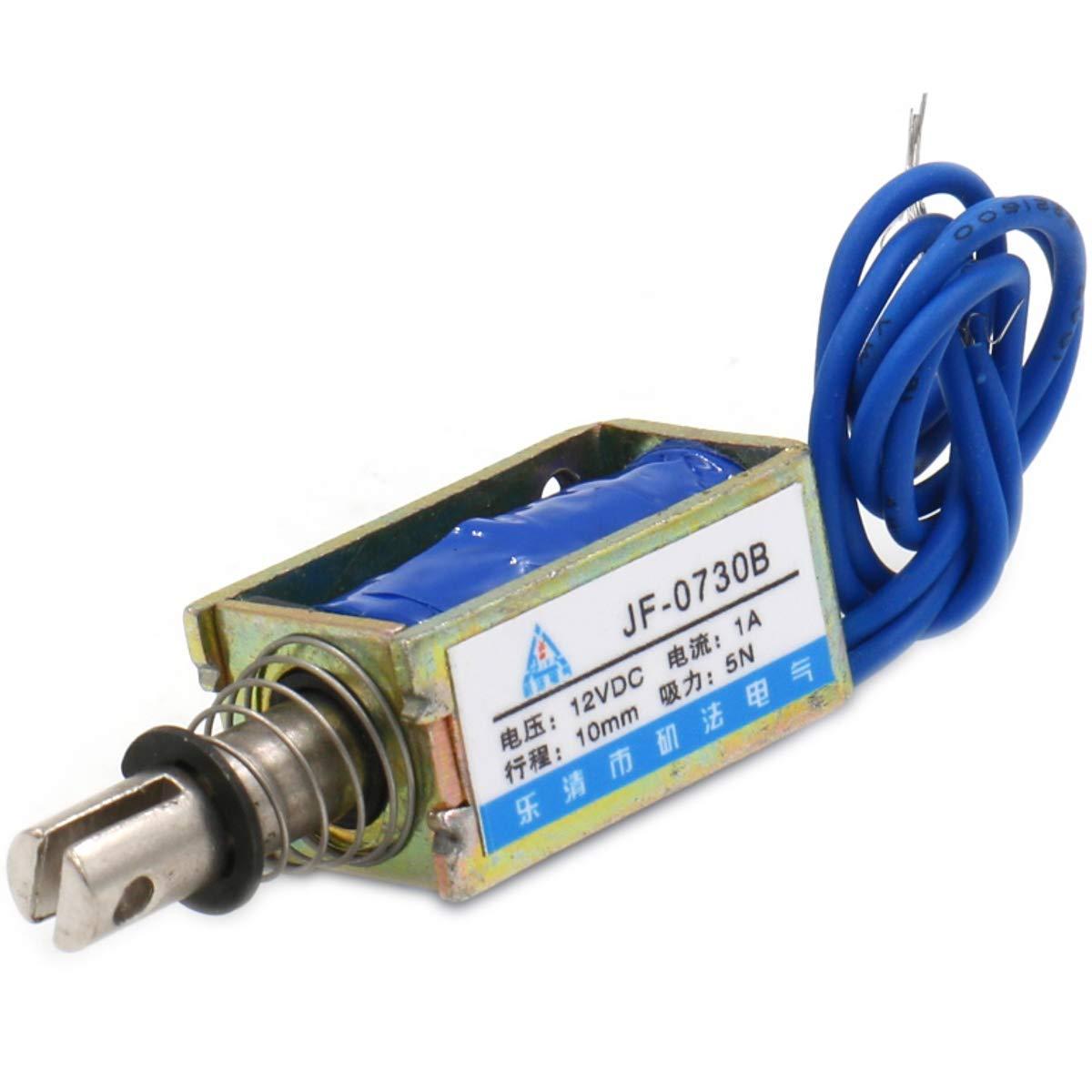 Hechen Elettromagnete Solenoide jf-0730b DC 12/V 1/A 5/N 10/millimetri corsa Push Pull tipo struttura aperta
