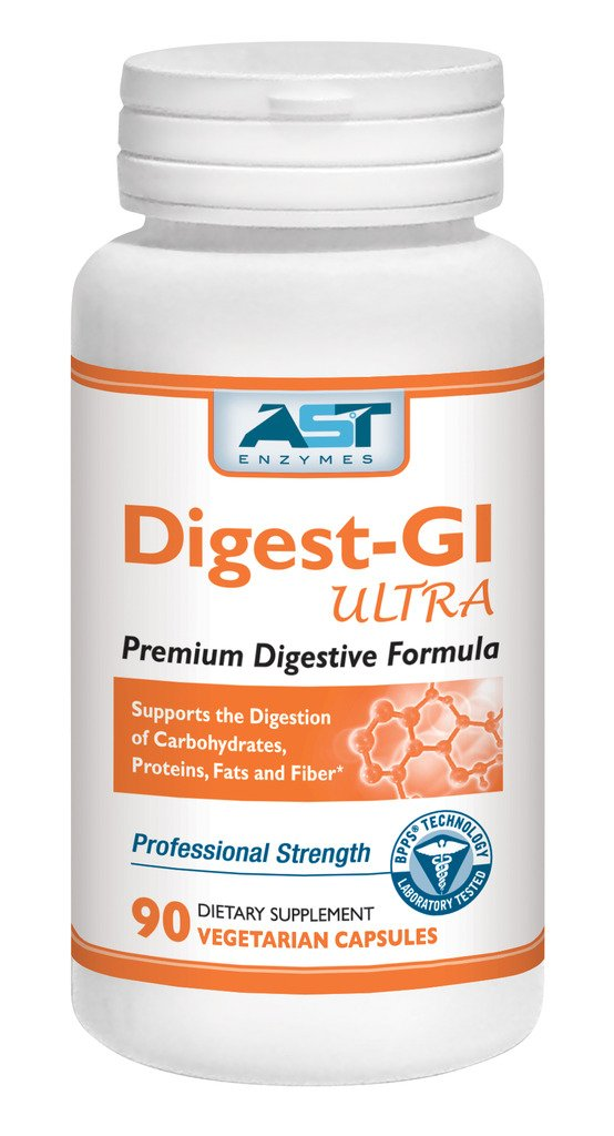 Digest-GI Ultra – 90 Vegetarian Capsules - Overall Digestion Support – Premium Natural Digestive Enzyme Formula – AST Enzymes