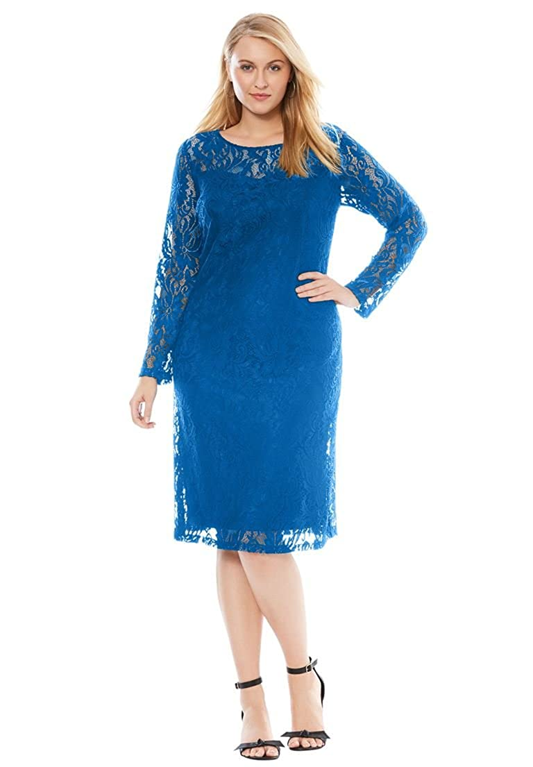 Jessica London Women's Plus Size Lace Shift Dress