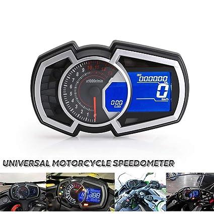 Motocicleta universal Velocímetro Instrumento ...