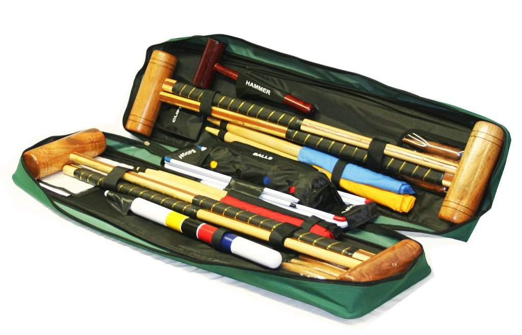 Garden Games Longworth Croquet Set (4 player in a Tool Kit Bag) by Garden Games